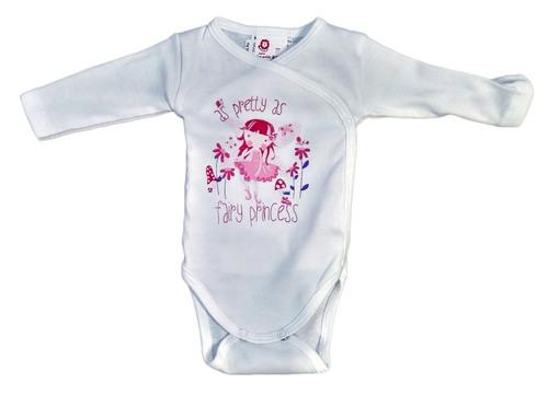 Leopoldi Body hosszú ujjú #réklis #filmnyomott #62 #fehér-pink as Pretty as Fairy Princess #110979