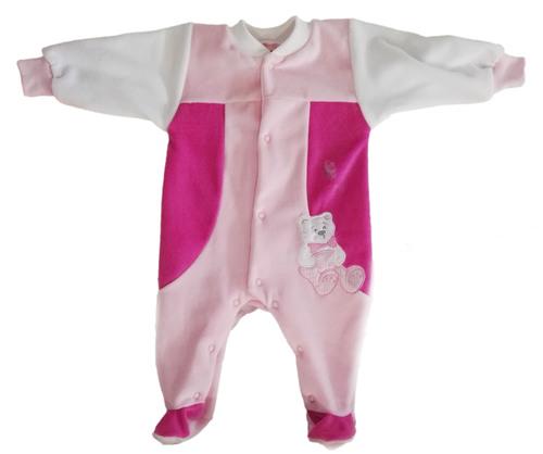 Leopoldi Rugi hosszú ujjú #plüss #56 #fehér-rózsa-pink maci-lepke #112485