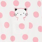 Mayoral Rugi #1-2 hó #60cm #pink pöttyös cicás #1615 2021