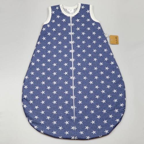 Kukukk Hálózsák pamut ujjatlan #68-74 kék csillag Poplar