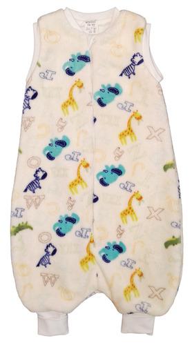 Wikids Hálózsák pizsama #wellsoft bélelt #74-80 #natúr betűs állatos
