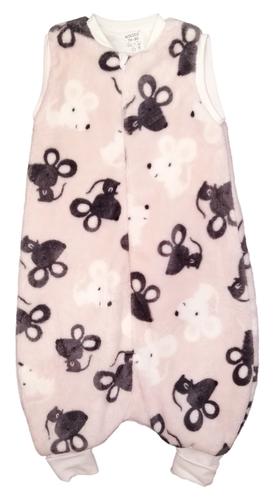 Wikids Hálózsák pizsama #wellsoft bélelt #74-80 #rózsa egeres