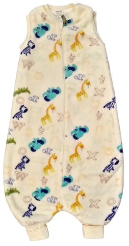 Wikids Hálózsák pizsama #wellsoft bélelt #86-92 #natúr betűs állatos