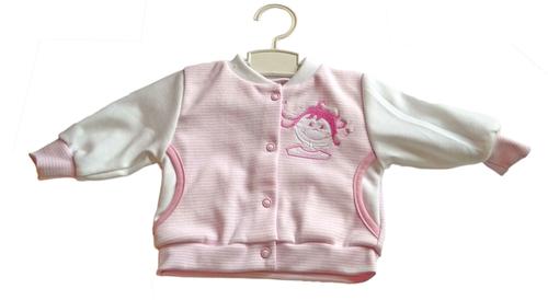 Leopoldi Pamut kocsikabát #62 #rózsaszín csíkos kislány #113048
