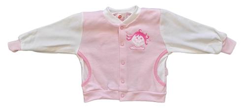 Leopoldi Pamut kocsikabát #74 #rózsaszín csíkos kislány #113048