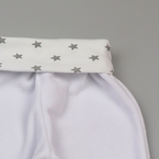 Kukukk Pocaknadrág plüss passzés 56 fehér csillagos Rowan