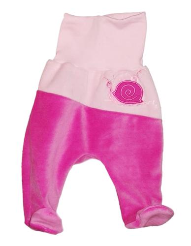 Leopoldi Talpasnadrág #plüss #74 #rózsa-pink csiga #100031