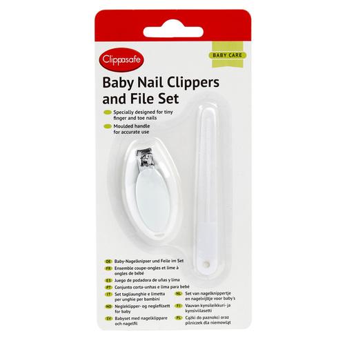Clippasafe baba körömcsipesz és körömreszelő #33-3