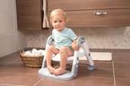 KidsKit Wc fellépő lépcsős-bili és szűkítő 3 az 1-ben fehér-ezüst #600060240