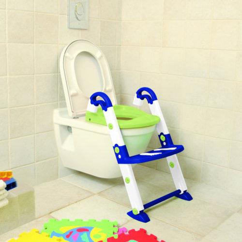 KidsKit Wc fellépő lépcsős-bili és szűkítő 3 az 1-ben kék-fehér-lime #600060255