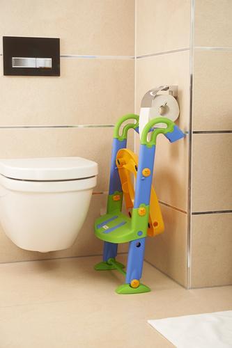 KidsKit Wc fellépő lépcsős-bili és szűkítő 3 az 1-ben kék-narancs-zöld #600060255