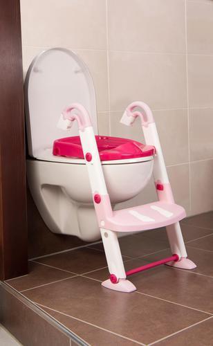 KidsKit Wc fellépő lépcsős-bili és szűkítő 3 az 1-ben rózsa-fehér-pink #600060255