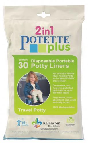 Potette Plus Biológiailag lebomló eldobható zacskók a Potette Plus hordozható bilihez - 30db