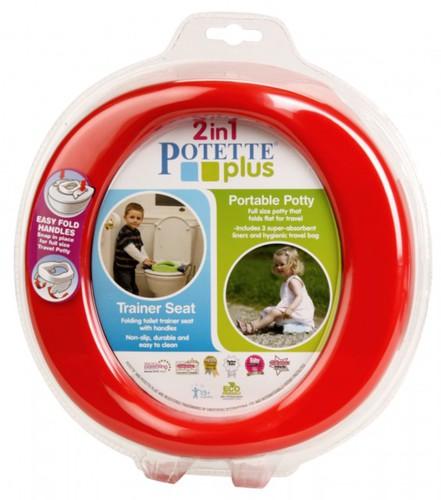 Potette Plus Utazó bili-Wc szűkítő #piros