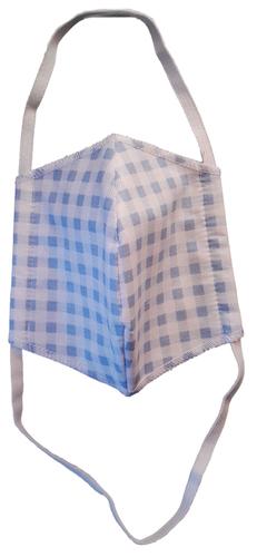 Kikkaboo felnőtt egészségügyi maszk pamut #kék kockás #911022
