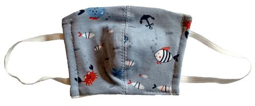 Wikids Higiéniai maszk #Gyermek #3-6 év #kék halacskás
