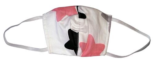 Wikids Higiéniai maszk #Junior 1 #6-10 év #szürke rózsaszín csillagos