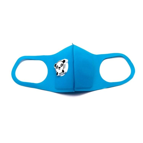 Gyermek arcmaszk pandás szeleppel #kék