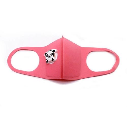Gyermek arcmaszk pandás szeleppel #rózsaszín