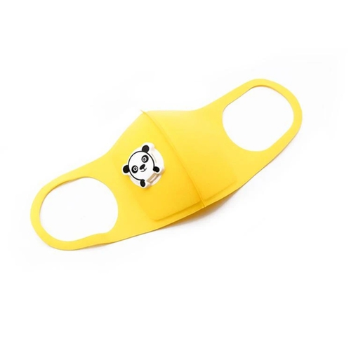 Gyermek arcmaszk pandás szeleppel #sárga