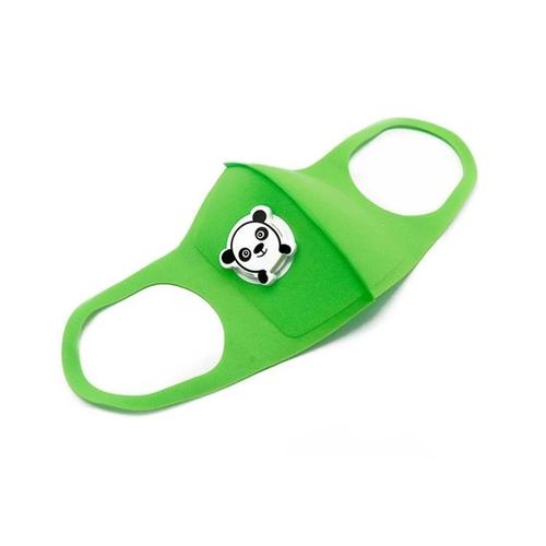 Gyermek arcmaszk pandás szeleppel #zöld