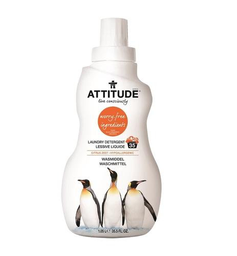 Attitude Mosószer hipoallergén vegán 1,05l - Citrus