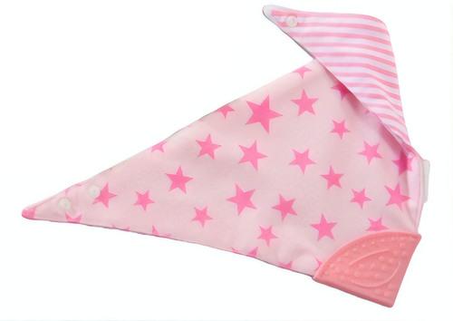 Gamberritos nyálkendő rágókával #rózsaszín csillagos-csíkos #9800-582966