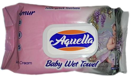 Aquella Baby Mix Nedves törlőkendő ultra puha fliptop nedves kupakos 120db #angyalkás #rózsa