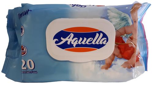Aquella Baby Mix Nedves törlőkendő ultra puha fliptop nedves kupakos 120db #angyalkás #kék