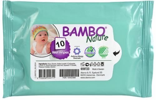 Bambo Nature Nedves törlőkendő #10db #659723