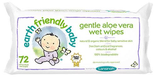 Lansinoh Earth Friendly Baby Nedves törlőkendő 72 db-os