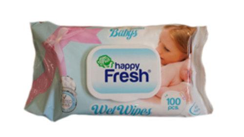 Happy Fresh Nedves törlőkendő Sensitive #100db