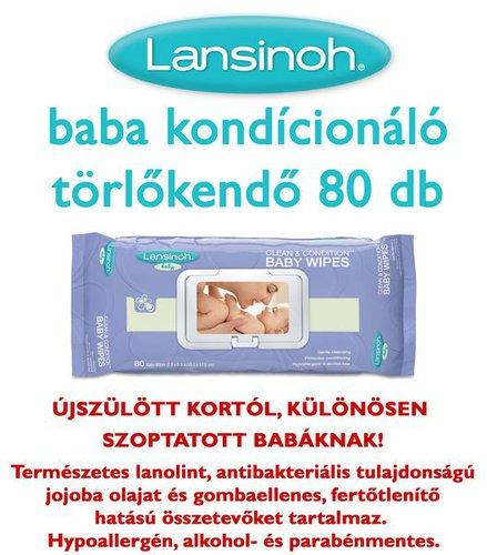 Lansinoh baba kondicionáló törlőkendő 80db