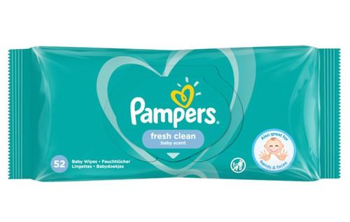 Pampers Nedves törlőkendő utántöltő Fresh Clean 52db
