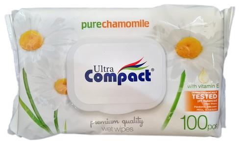 Ultra Compact Nedves törlőkendő Kamilla #100db