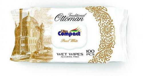 Ultra Compact Nedves törlőkendő Ottoman Pearl White #100db