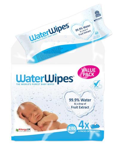 WaterWipes Nedves törlőkendő #3plusz1x60db