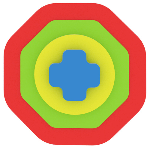 My First Puzzle  - Négyzet oktogon piros