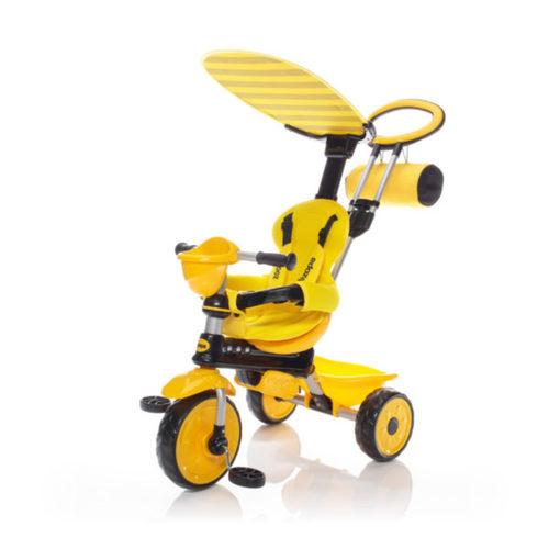 Zopa tricikli ZooGo tolókarral Bee sárga/fekete