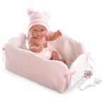 LLorens Újszülött baba pelenkás dobozban 26cm lány #J38940-26268