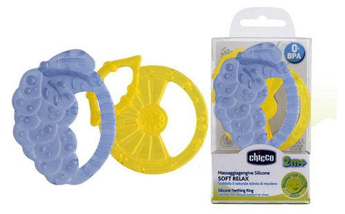 Chicco Soft relax szilikon rágóka #025780 #szeder-citrom