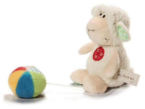 Nici plüss figura rezgő labdával bárány fehér-krém #35928