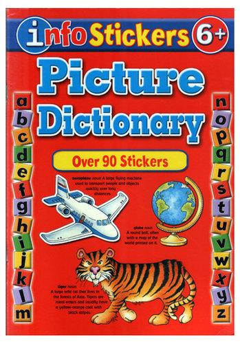 Könyv - Info stickers Picture dictionary - angol nyelvű gyerekkönyv