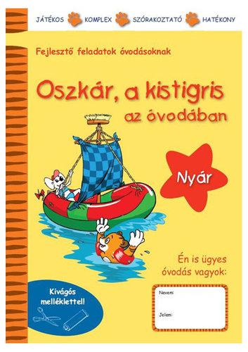 Könyv - Oszkár a kistigris az  óvodában  - Nyár