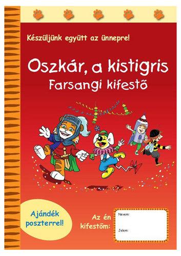 Könyv - Oszkár a kistigris - Farsangi kifestő