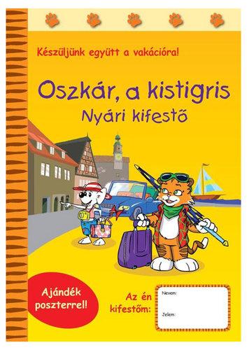 Könyv - Oszkár a kistigris - Nyári kifestő