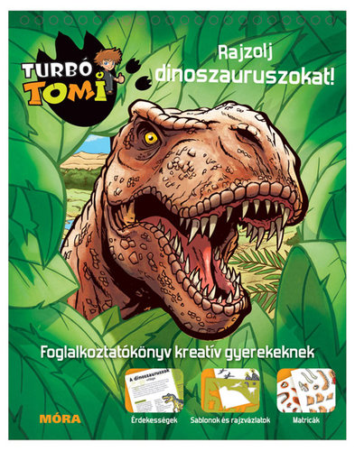 Könyv - Turbó Tomi Rajzolj dinoszauruszokat!