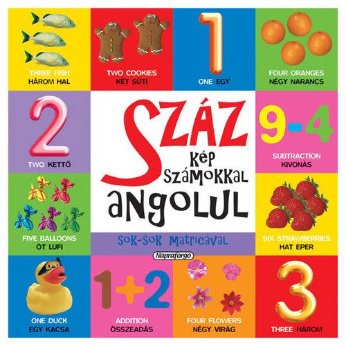 Könyv - Száz kép számokkal angolul matricával