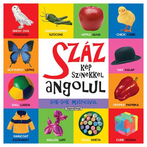 Könyv - Száz kép színekkel angolul matricával