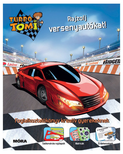 Könyv - Turbó Tomi - Rajzolj versenyautókat!
